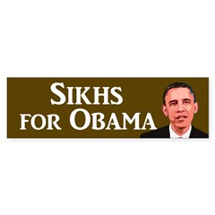 Sikhs for Obama bumper sticker
