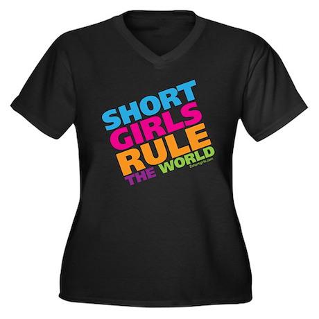 Short Girls Rule the World Women's Plus Size V-Nec