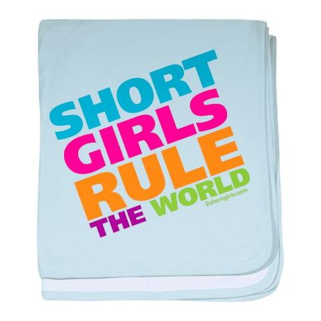 Short Girls Rule the World baby blanket