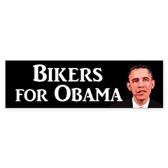 Bikers for Obama bumper sticker