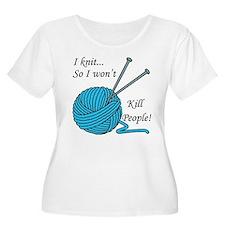 I knit Women's Plus Size Scoop Neck T-Shirt