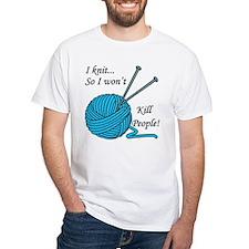 I knit White T-Shirt