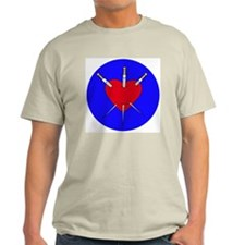 Pierced Heart Ash Grey T-Shirt