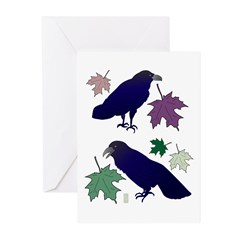 Two Ravens Greeting Cards (Pk of 10)