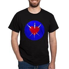 Pierced Heart Black T-Shirt