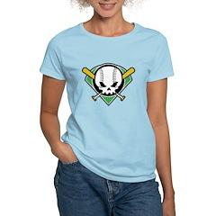 Skull Baseball Women's Light T-Shirt