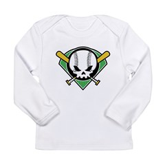 Skull Baseball Long Sleeve Infant T-Shirt