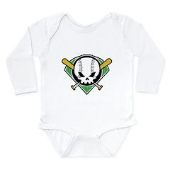 Skull Baseball Long Sleeve Infant Bodysuit