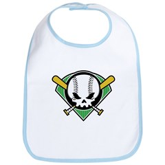 Skull Baseball Bib