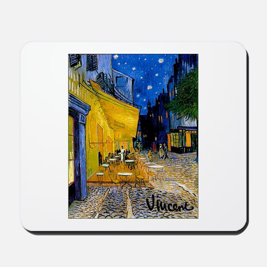 Cafe Terrace at Night Mousepad