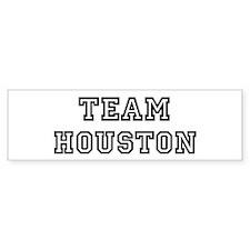 Team Houston Bumper Bumper Sticker