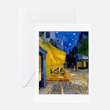 Cafe Terrace at Night Greeting Cards (Pk of 20)