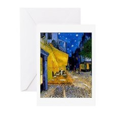 Cafe Terrace at Night Greeting Cards (Pk of 10)
