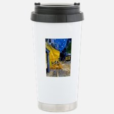 Cafe Terrace at Night Stainless Steel Travel Mug