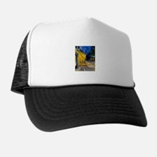 Cafe Terrace at Night Trucker Hat