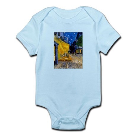 Cafe Terrace at Night Infant Bodysuit