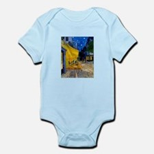 Cafe Terrace at Night Infant Bodysuit