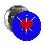 Pierced Heart Button