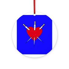 Pierced Heart Ornament (Round)