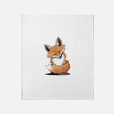 KiniArt Fox Throw Blanket