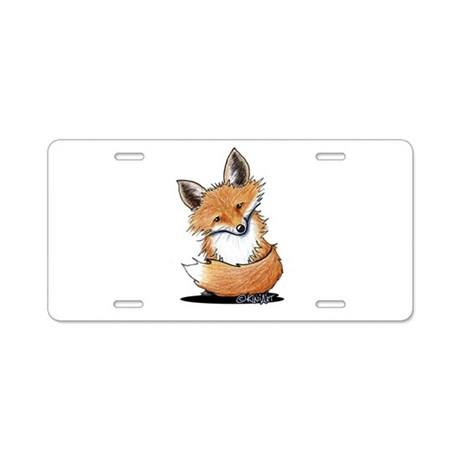 KiniArt Fox Aluminum License Plate