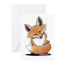 KiniArt Fox Greeting Cards (Pk of 10)