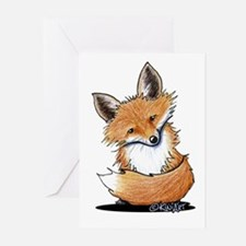 KiniArt Fox Greeting Cards (Pk of 10)