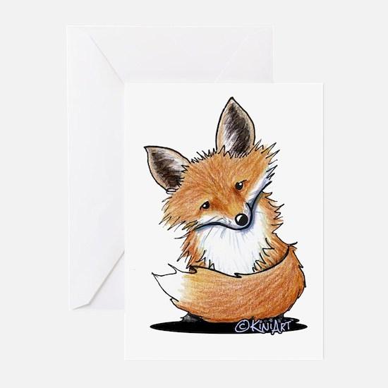 KiniArt Fox Greeting Cards (Pk of 20)