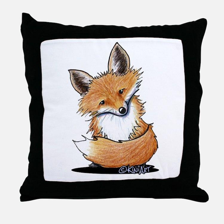 KiniArt Fox Throw Pillow