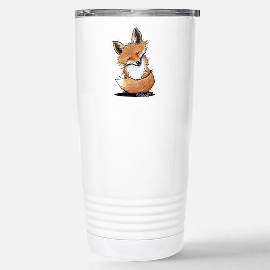 KiniArt Fox Stainless Steel Travel Mug