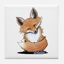 KiniArt Fox Tile Coaster