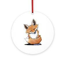 KiniArt Fox Ornament (Round)
