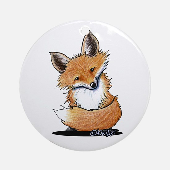 KiniArt Fox Ornament (Round)
