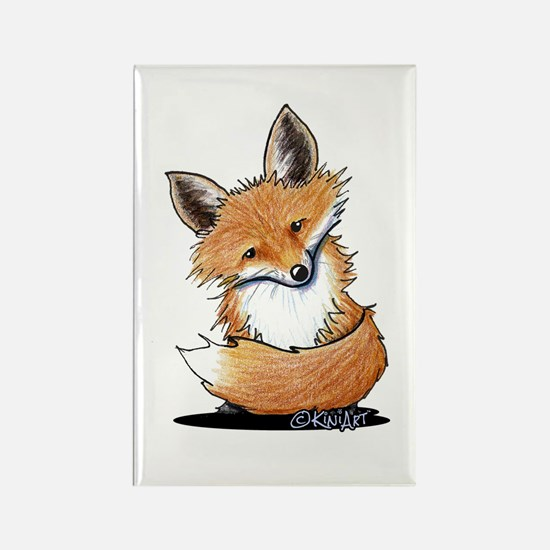 KiniArt Fox Rectangle Magnet