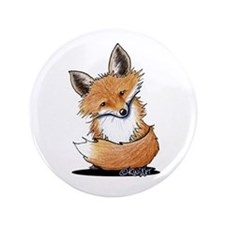 "KiniArt Fox 3.5"" Button"