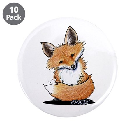 "KiniArt Fox 3.5"" Button (10 pack)"