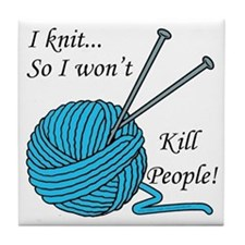I knit Tile Coaster