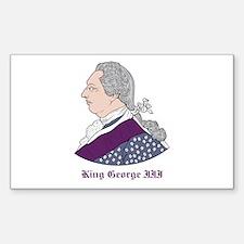 King George III Rectangle Decal