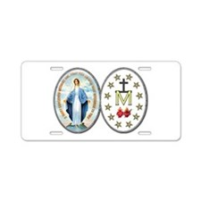 Miraculous Medal Aluminum License Plate