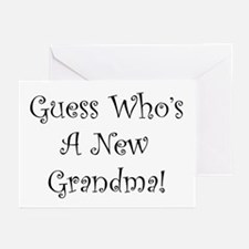 Guess Who's A New Grandma Greeting Cards (Package