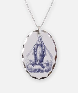 Our Lady of Grace Etching Necklace