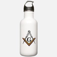 Square and Compass Water Bottle