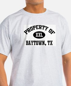 Property of Baytown Ash Grey T-Shirt
