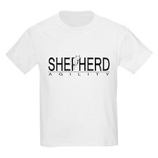 White GSD Agility Kids T-Shirt