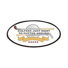 Golfers Putter Around Patches