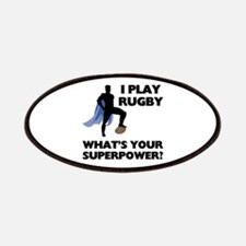 Rugby Superhero Patches