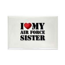 Air Force Sister Rectangle Magnet