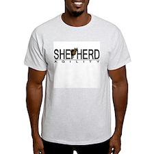 German Shepherd Agility Ash Grey T-Shirt