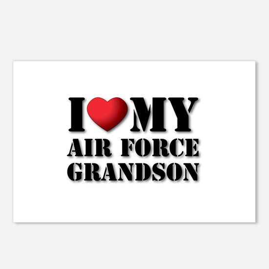 Air Force Grandson Postcards (Package of 8)