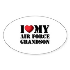 Air Force Grandson Oval Decal